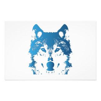 Papeterie Loup de bleu glacier d'illustration