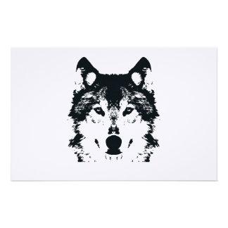 Papeterie Loup noir d'illustration