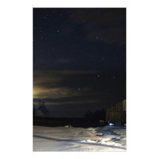 Papeterie Lueur de soirée d'hiver