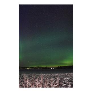 Papeterie Lumières du nord de ciel de Noël