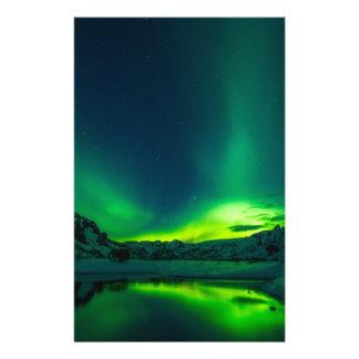 Papeterie Lumières du nord vertes de l'Islande