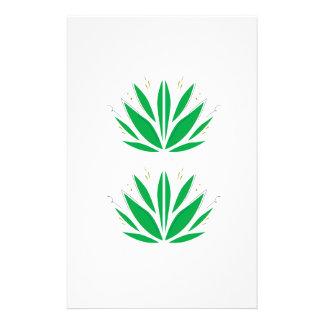 Papeterie Mandala vert sur le blanc