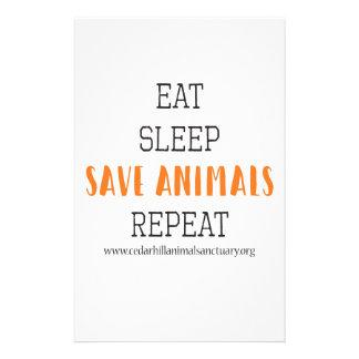 Papeterie Mangez les animaux d'économies de sommeil