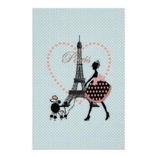 Papeterie Marche vintage romantique mignonne de silhouette d