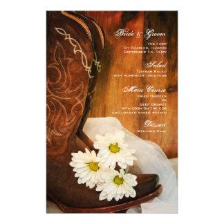 Papeterie Mariage occidental de pays de bottes de cowboy de