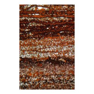 Papeterie Minerai de fer sous le microscope