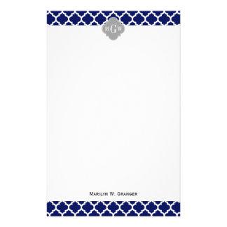 Papeterie Monogramme initial du gris 3 blancs du Marocain #5
