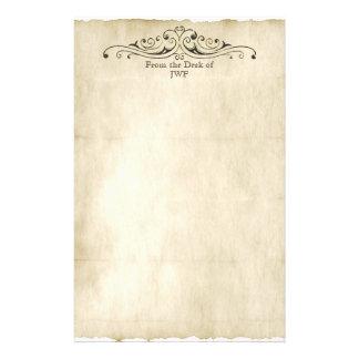 Papeterie Monogramme personnalisé par parchemin vintage de