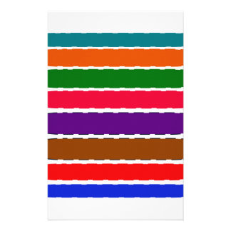 Papeterie Motif coloré élégant de tranches d'arc-en-ciel