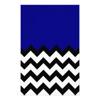 Papeterie Motif de bleu marine sur le grand zigzag Chevron