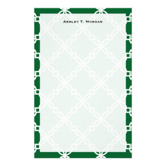Papeterie Motif de fantaisie blanc de Forest Green grand