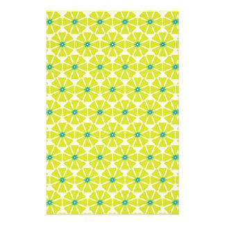 Papeterie Motif de fleur jaune