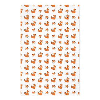 Papeterie motif de renards rouges