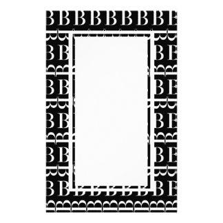 Papeterie Motif d'initiale de monogramme, lettre B dans le