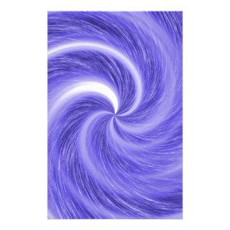 Papeterie motif en spirale pourpre
