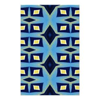 Papeterie Motif génial géométrique jaune bleu