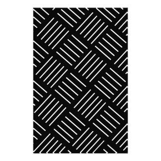 Papeterie Motif géométrique abstrait - bandes - noir et wh