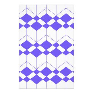 Papeterie Motif géométrique abstrait - bleu et blanc