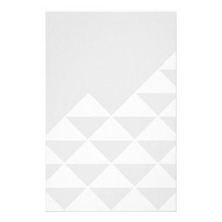 Papeterie Motif géométrique abstrait - gris et blanc