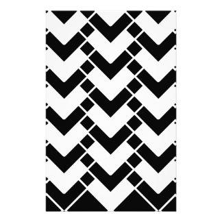 Papeterie Motif géométrique abstrait - noir et blanc.