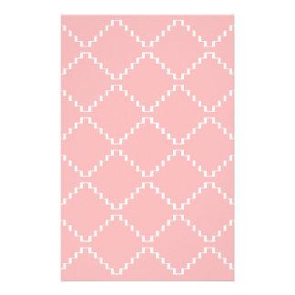 Papeterie Motif géométrique abstrait - rose et blanc