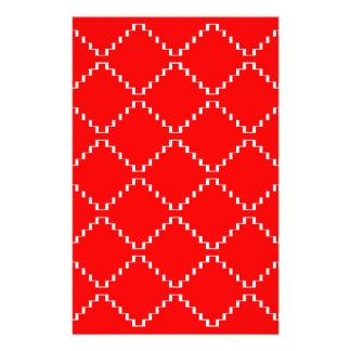 Papeterie Motif géométrique abstrait - rouge et blanc