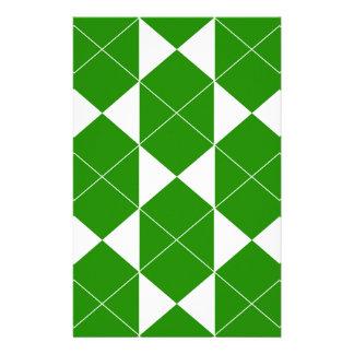 Papeterie Motif géométrique abstrait - vert et blanc