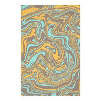 Papeterie Motif liquide abstrait
