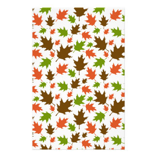 Papeterie Motif orange vert de feuille d'automne de Brown