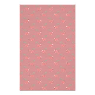 Papeterie Motif rouge de cerise