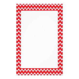 Papeterie Motif rouge et blanc de Chevron