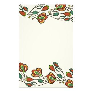 Papeterie motif sans fin avec des fleurs