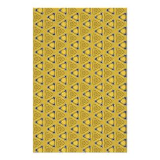 Papeterie Motif triangulaire jaune