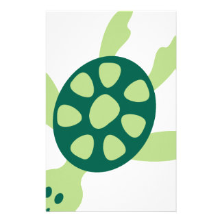 Papeterie Natation de tortue verte