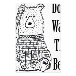 Papeterie Ne réveillez pas l'ours