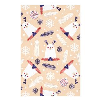 Papeterie Noël, vacances, décorations d'arbre, motif