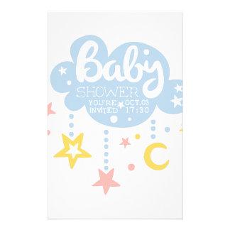 Papeterie Nuage et Temp de conception d'invitation de baby