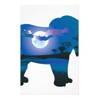 Papeterie Nuit africaine avec l'éléphant 2