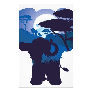 Papeterie Nuit africaine avec l'éléphant 4