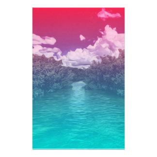 Papeterie Océan bleu rose Trippy de clé d'amants d'éloge