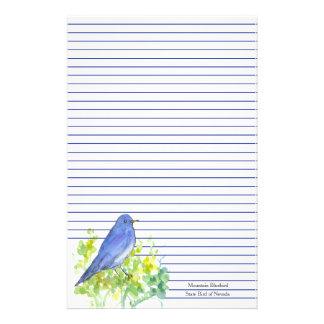 Papeterie Oiseau d'état d'oiseau bleu de montagne de bleu du