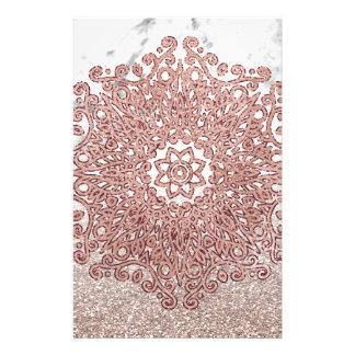 Papeterie Ombre rose de parties scintillantes de marbre de