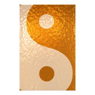 Papeterie Or de YinYANG - équilibre de Yin Yang