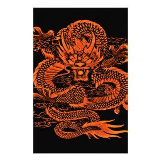 Papeterie Orange épique de dragon