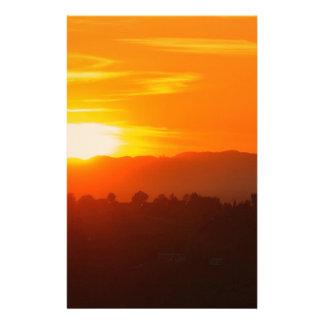 Papeterie Orange orange Sun de ciel de Hollywood Los Angeles