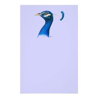 Papeterie Paon :  Bleu indien