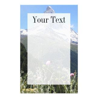 Papeterie Papier à lettres de montagne de Matterhorn au