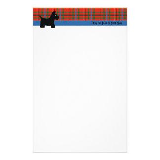 Papeterie Papier à lettres de plaid de Scottie