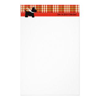 Papeterie Papier à lettres de plaid de vacances de Scottie