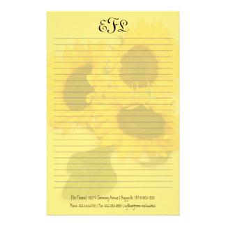 Papeterie Papier à lettres personnel de monogramme de